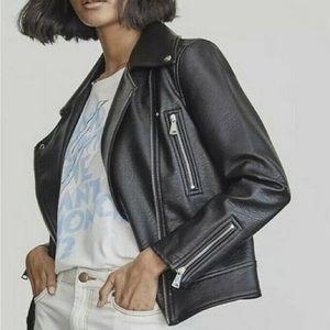 Elizabeth & James Asher Leather Moto Jacket Black